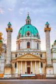Iglesia de San Carlos (karlskirche) en Viena, austria — Foto de Stock