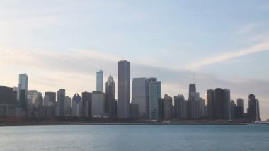 Chicago downtown cityscape — Stock Video