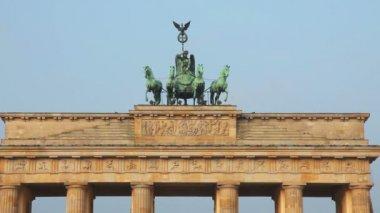 Part of Brandenburg gate  in Berlin, — Stock Video