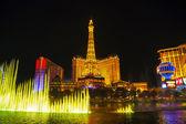 Las Vegas boulevard in the night — Stock Photo