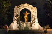 Johann Strauss statue at Stadtpark — Stock Photo