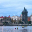 The Old Town Charles bridge tower in Prague — Stock Video #69744035