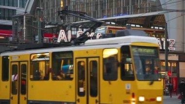 Alexanderplatz subway station in Berlin — Stock Video