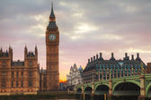 London with the Clock Tower and Houses of Parliament — Stock Photo