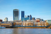 Financial district of London city — Stock Photo