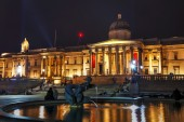 National Gallery building in London — Stock Photo