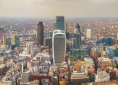 Aerial overview of London city — Stock Photo