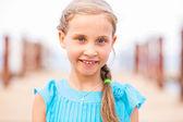 Portrait of beautiful little girl — Stock Photo