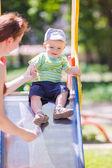 Baby boy at the playground — Stock Photo
