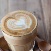 A cup of vintage coffee — Stockfoto