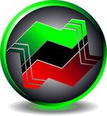 Button trading — Stock Vector