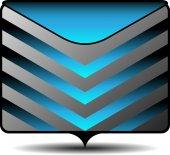 Ícone de pasta de arquivo — Vetor de Stock