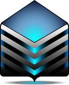Icono de la carpeta de archivo — Vector de stock