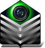 Icon video folder — Stockvektor