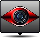 Icon for video surveillance — Stockvektor