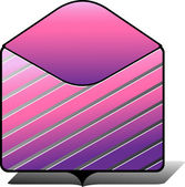 Pink folder icon — Stock vektor