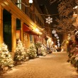 Christmas night in Quebec City — Stock Photo #57852803