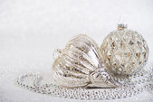 Festive Vintage Christmas decoration on abstract glitter background — Stock Photo