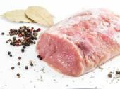 Vers vlees met kruiden — Stockfoto