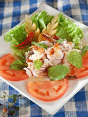 Sour & spicy vermicelli salad with prawn — Stock Photo