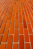 Close up of brick wall ending in infinity  — Stock Photo