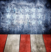 Grunge interior Dark blue wall texture with painted on wall  — Stock Photo