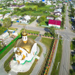 Постер, плакат: Aerial view on temple in honor of the Ascension