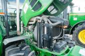 Tractor with open cowl. Tyumen. Russia — Stock Photo
