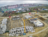 Construction site of residential house in Tyumen — Foto de Stock