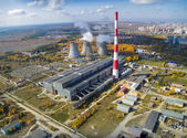 Combined heat and power factory. Tyumen. Russia — ストック写真