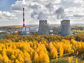Combined heat and power factory. Tyumen. Russia — Foto Stock
