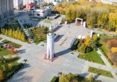 World war 2 Memorial Square. Tyumen. Russia — Stock Photo