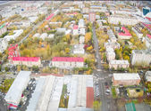 Tyumen city quarters from helicopter. Russia — Foto Stock