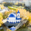 Постер, плакат: Church in honor of icon of Mother of God Healer
