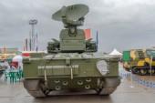Back of antiaircraft gun missile system Tunguska — Stock Photo