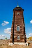 Wooden watchtower, 19th century. N.Sinyachikha — Stock Photo
