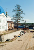 Reconstruction in Ioanno-Vvedensky monastery — Stock Photo