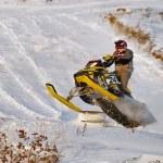 Sport snowmobile racing — Stock Photo #60253039