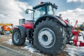 Tractor on agricultural machinery exhibition — Stock Photo
