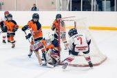 Children hockey. Attack of gate — Stock Photo