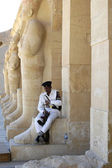 Egyptian Tourist Police Officer rests — Stock Photo