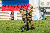 Demonstration performances of special troops — Foto Stock