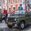 General on SUV on parade in Tyumen — Stock Photo #63594667