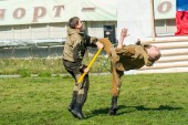 Demonstration performances of special troops — Stock Photo