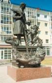 Monument to Petr Pavlovich Yershov. Tobolsk. — Stock Photo