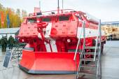 Special fire fighting vehicle SPM on exhibition — Stock Photo