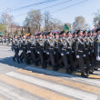 Cadets of police academy marching on parade — Stock Photo #64940143