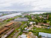 Luftbild auf Tjumen Reparaturwerft. Russland — Stockfoto