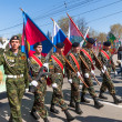 Patriotic club cadets marching on parade — Stock Photo #65857661
