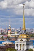 Main tower of Admiralty, Peter and Paul Cathedral — Stock Photo
